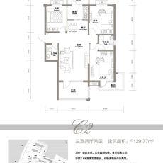 欣海·世纪城3期D户型户型图