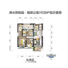 交投·碧桂园翡翠公馆YJ039户型B 108㎡户型图