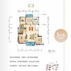 申丰·金色阳光城--C3 124.51㎡