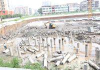 邻江公馆二期8月工程进度   3#、4#楼底板钢筋工程完成