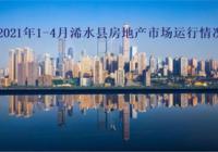 2021年1-4月浠水县房地产市场运行情况