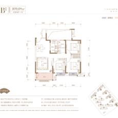天盛•西城壹品B户型户型图