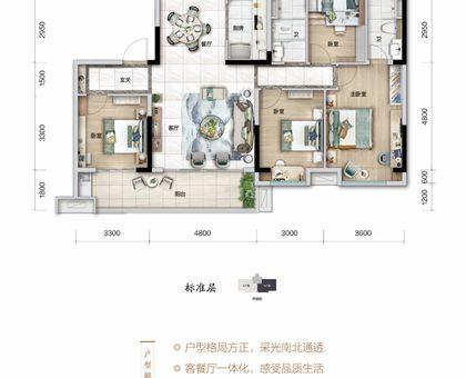 浠水碧桂园八景台YJ140户型