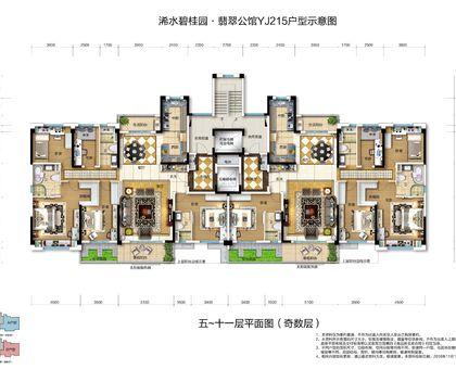 交投·碧桂园翡翠公馆YJ215户型 225㎡