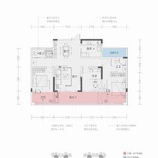 紫金大院B 119㎡户型图