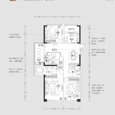 紫金大院D 115㎡户型图