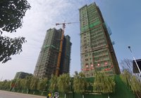 晉梅九坤·學府城,8#樓9#樓喜封金頂,業主快來查收工程施工圖片