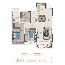 卓达·书香名苑B6 94.71户型图