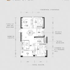紫金大院C 86㎡户型图