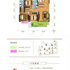 升华·鑫龙翡翠城E户型户型图
