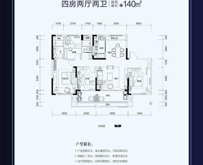 武穴碧桂园YJ140户型